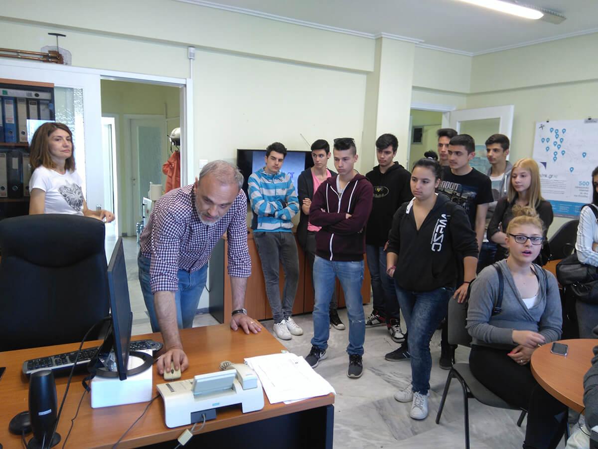 Επίσκεψη του 2ου ΕΠΑΛ Νέας Ιωνίας, Τομέας Πληροφορικής στα γραφεία της think.gr ΑΕ